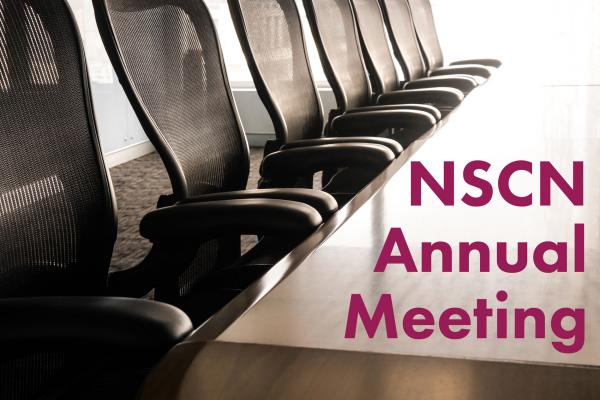 image of board room table with the words NSCN Annual Meeting